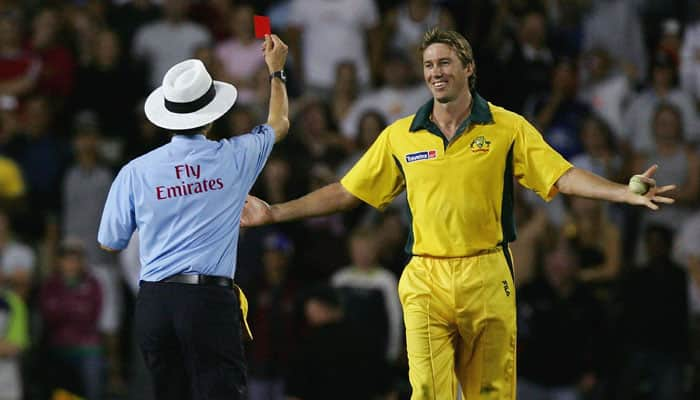 first ever red card in cricket when billy bowden had enough of