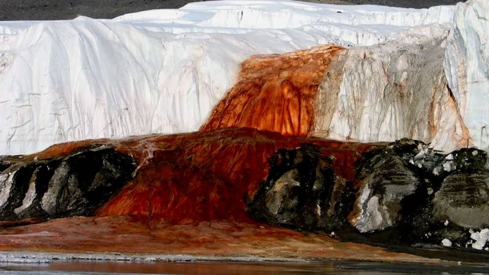 The Blood Falls in Antarctica