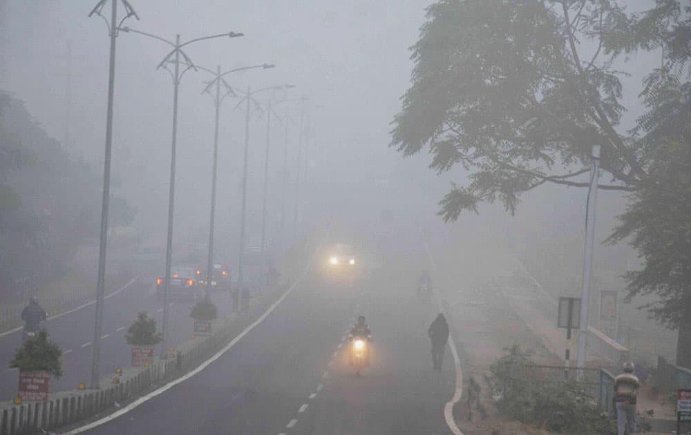 Foggy morning in Bhopal