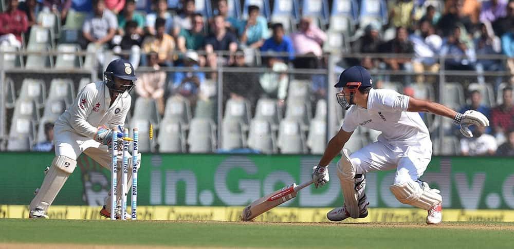 Parthiv Patel stumping England batsman Alistair Cook