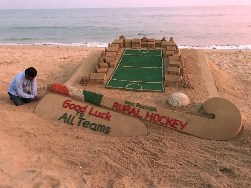 Sand sculpture wishing Rural hockey