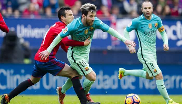 La Liga: Lionel Messi brace against Osasuna ends Barcelona's 3 ...