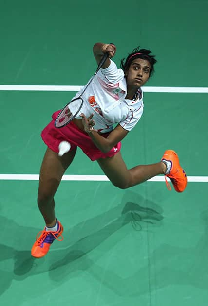 PV Sindhu at BWF Dubai World Superseries Finals