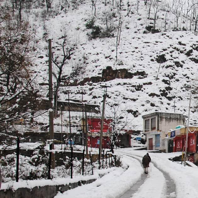 Snowfall i Jammu and Kashmir