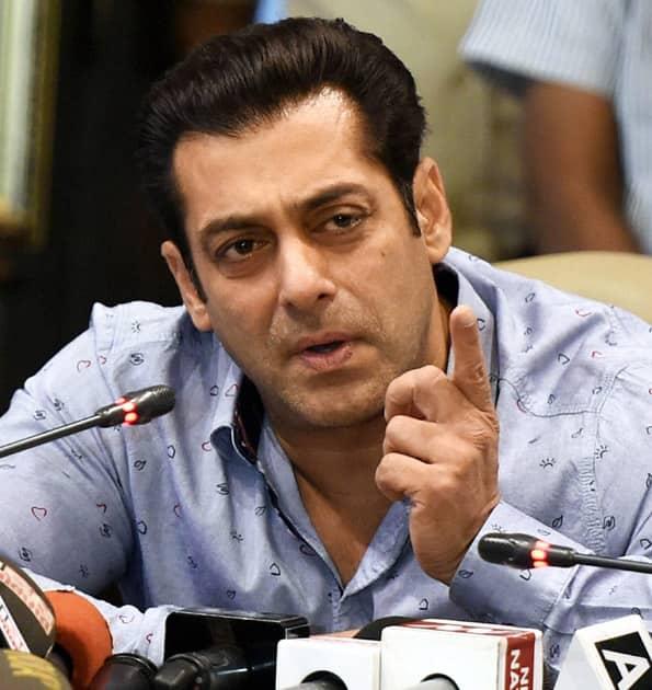 Salman Khan address the media