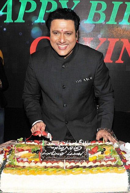 Bollywood Actor Govinda during his 53 Birthday celebrates
