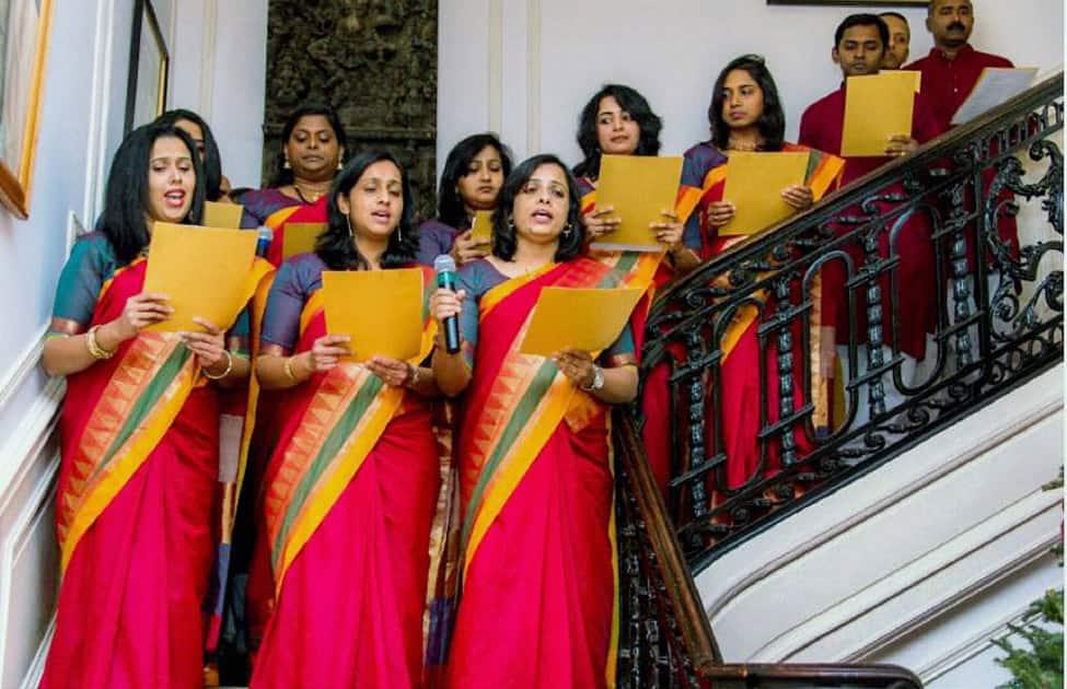 Christmas celebration at Indian Embassy in Washington DC