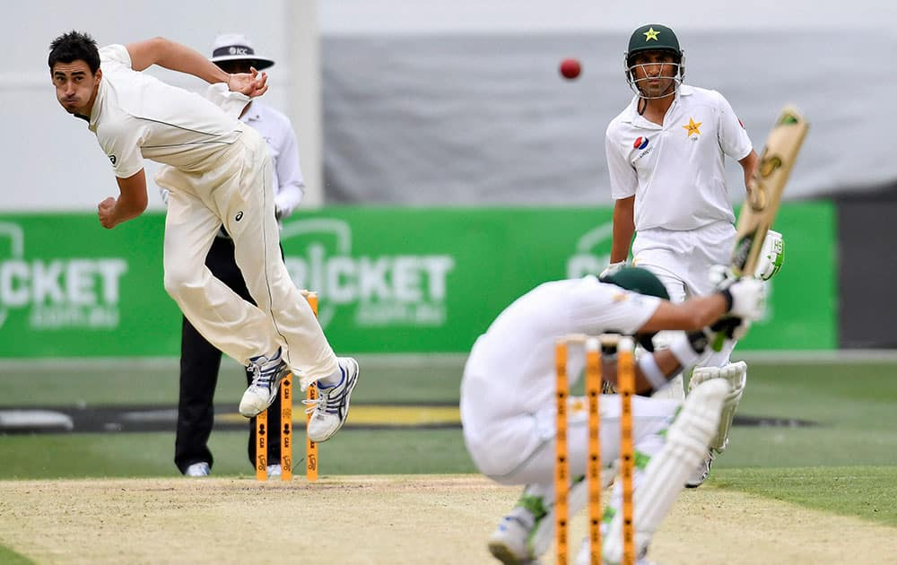 2nd cricket test, Pak vs Aus