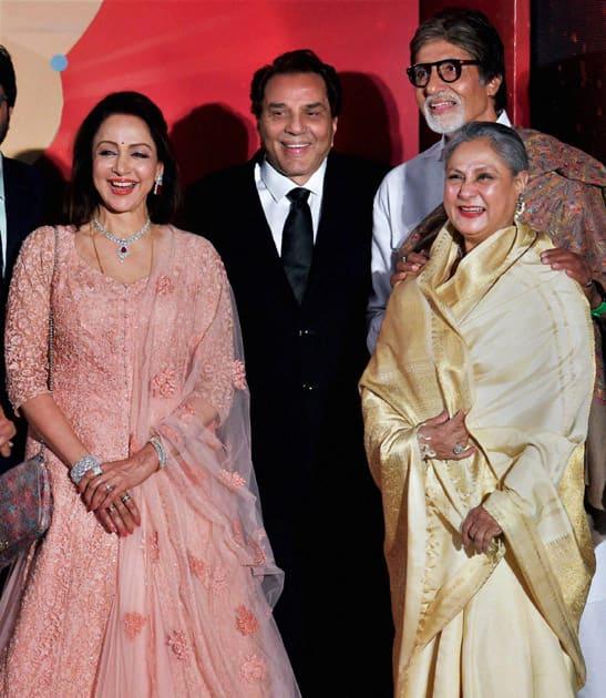 Bollywood legends Dharmendra, Hema Malini