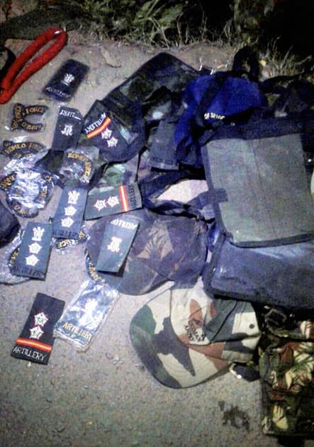 army uniforms recovered in Rajouri