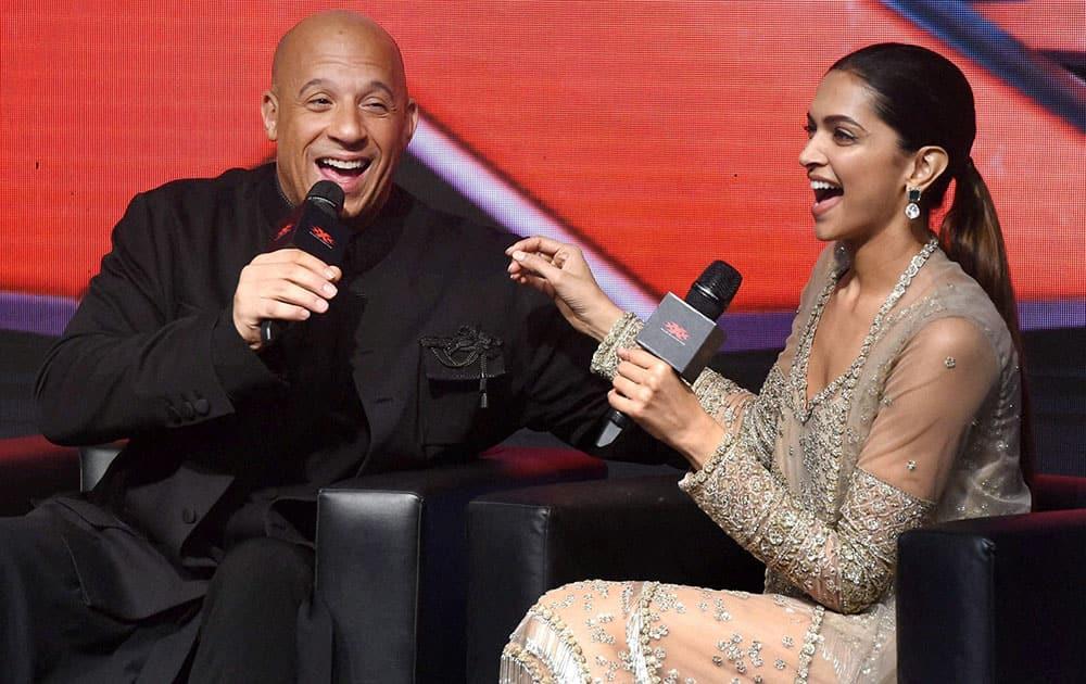 Vin Diesel and Deepika Padukone promote their film