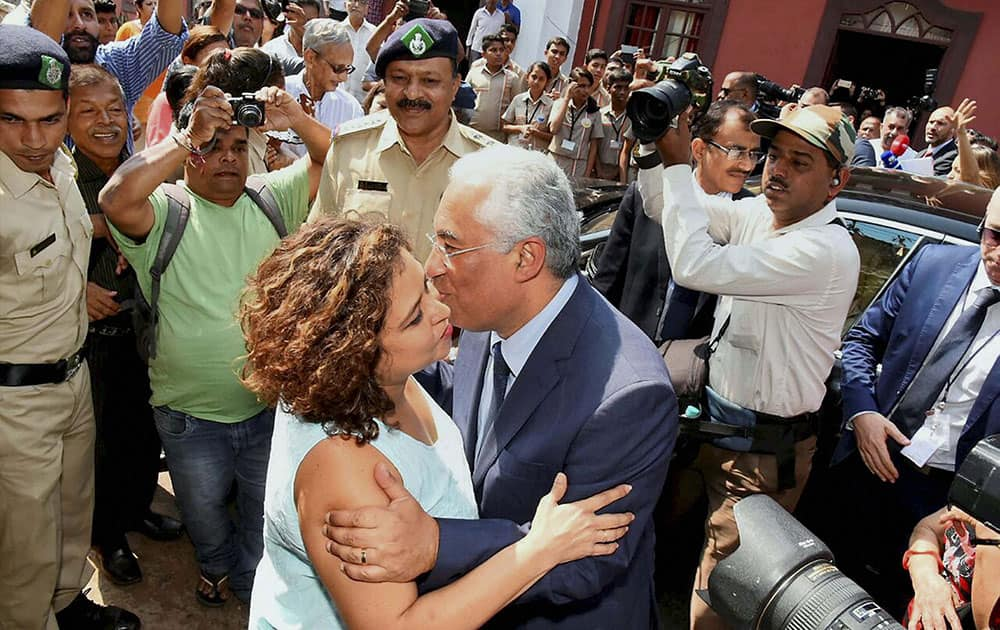 Portugal's PM Antonio Costa visits his ancestral house at Margao