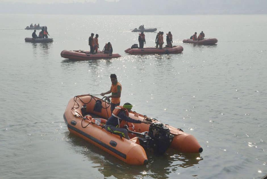 NDRF Personnel carry out rescue operations
