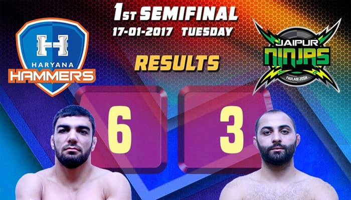 PWL 2017: Haryana Hammers thrash Jaipur Ninjas 6-3 to enter final for second consecutive year