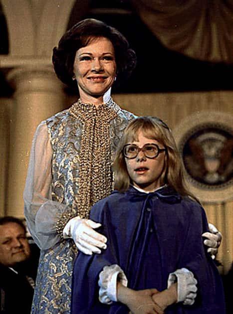 Rosalynn and Amy Carter, 1977