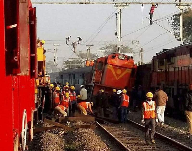 Train derails in AP