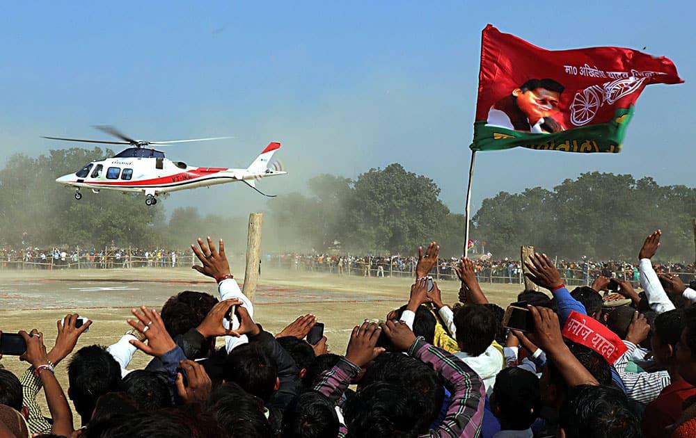 Akhilesh Yadav's rally in Sultanpur
