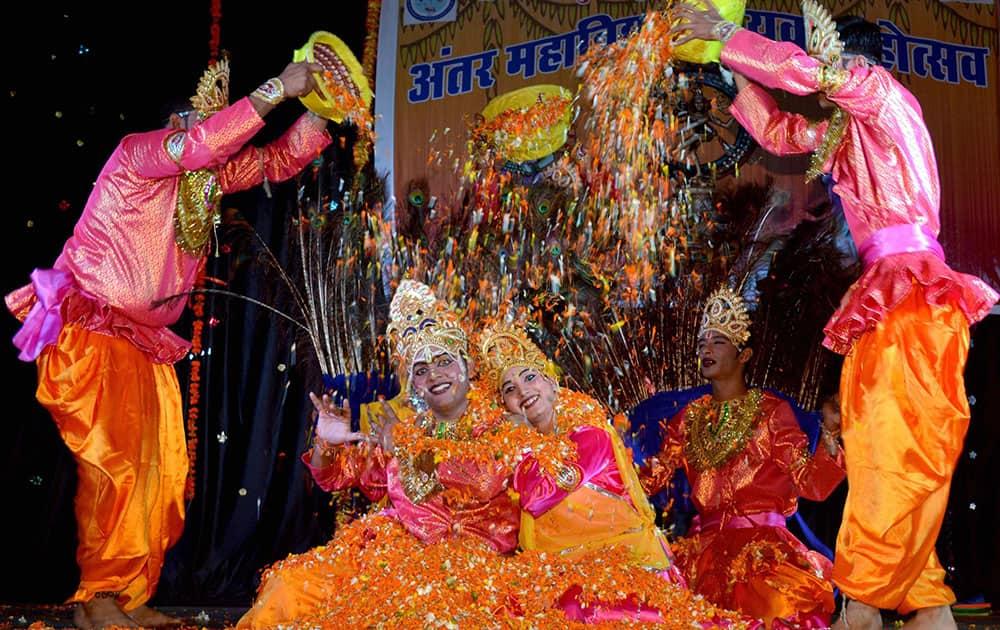 Students perform Brij Ki Holi