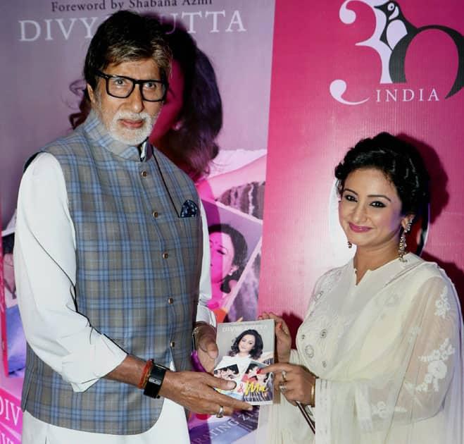 Divya Dutta with Amitabh Bachchan