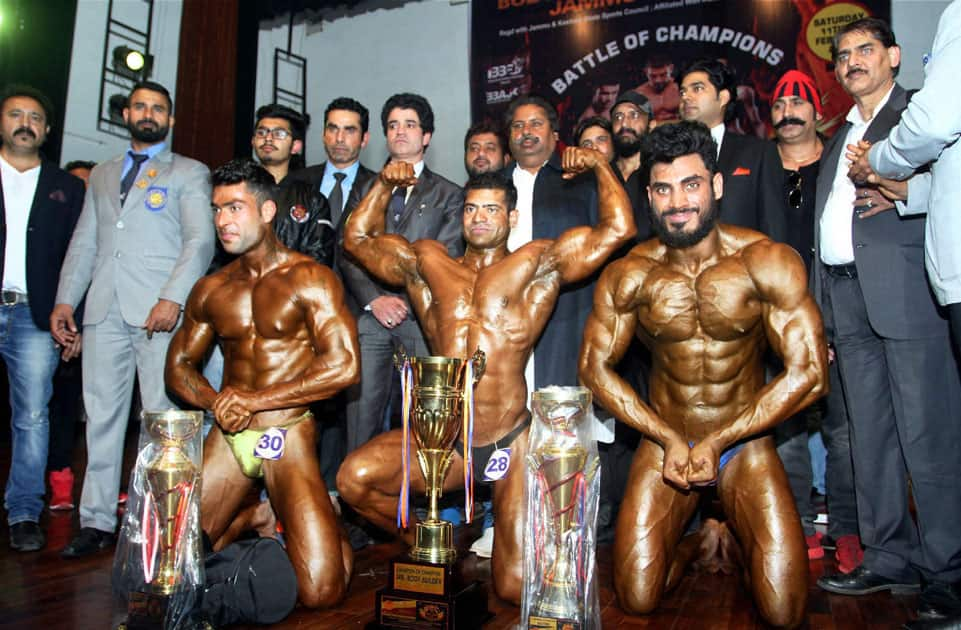 Body building competition in Jammu