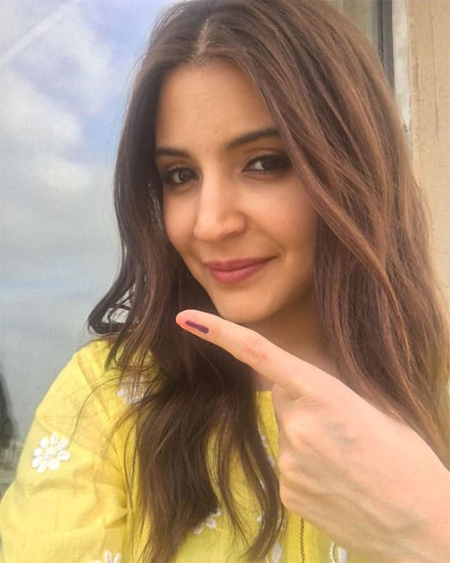 anushka sharma - Started my morning by casting my vote