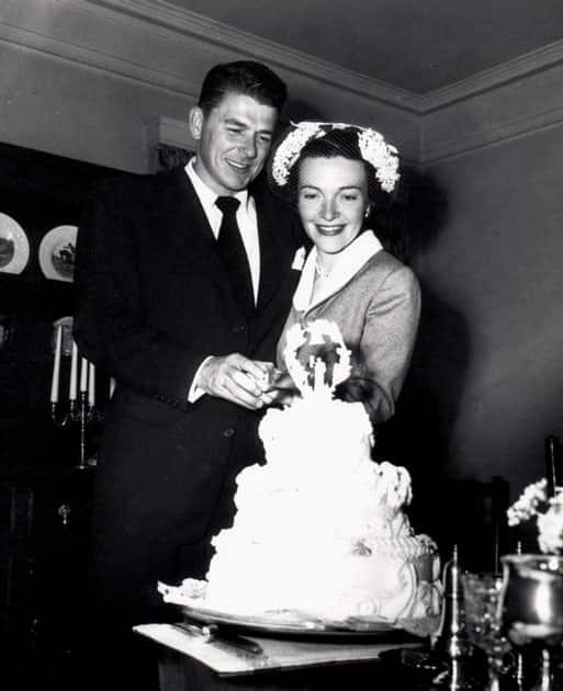 RONALD REAGAN AND NANCY DAVIS