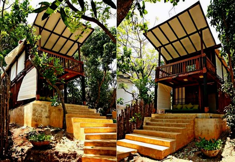 This Beach Side Tree House In Goa