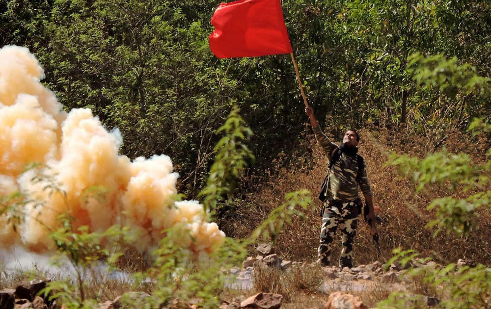 CRPF in an encounter with left wing extremists
