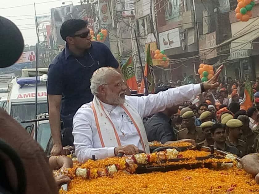 Narendra Modi's roadshow