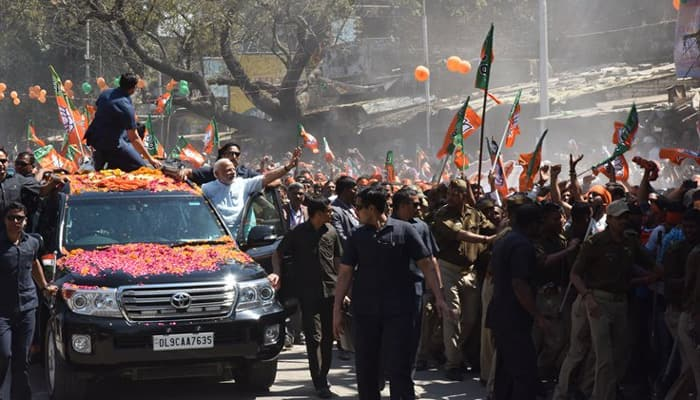 Narendra Modi's Varanasi roadshow: Have you seen this video? Overwhelmed by public love, PM tweeted it - WATCH