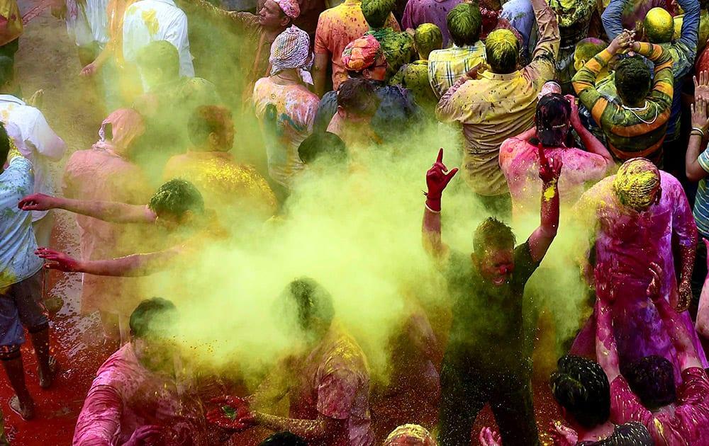 People celebrate Holi