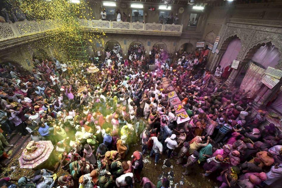 Holi festival in Vrindavan