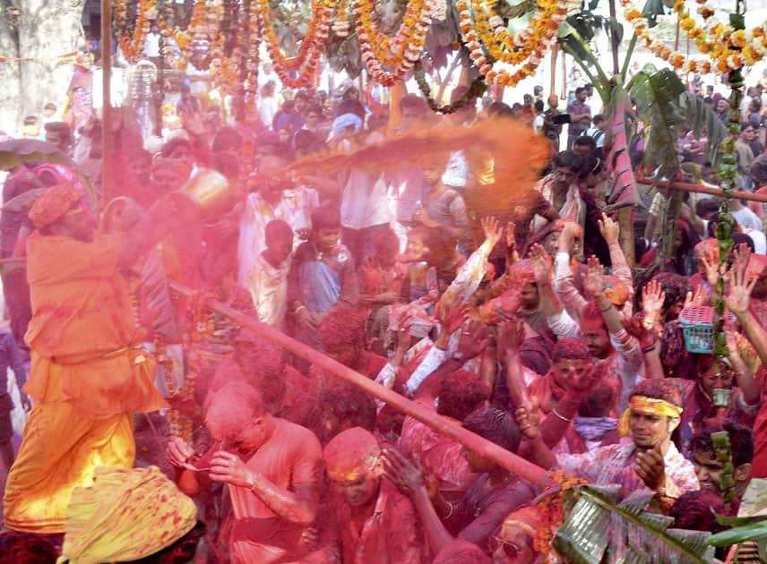 Latthmaar Holi in Mathura