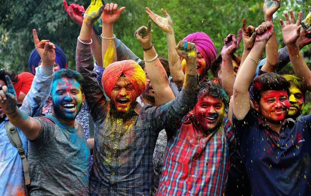 Holi festival in Amritsar