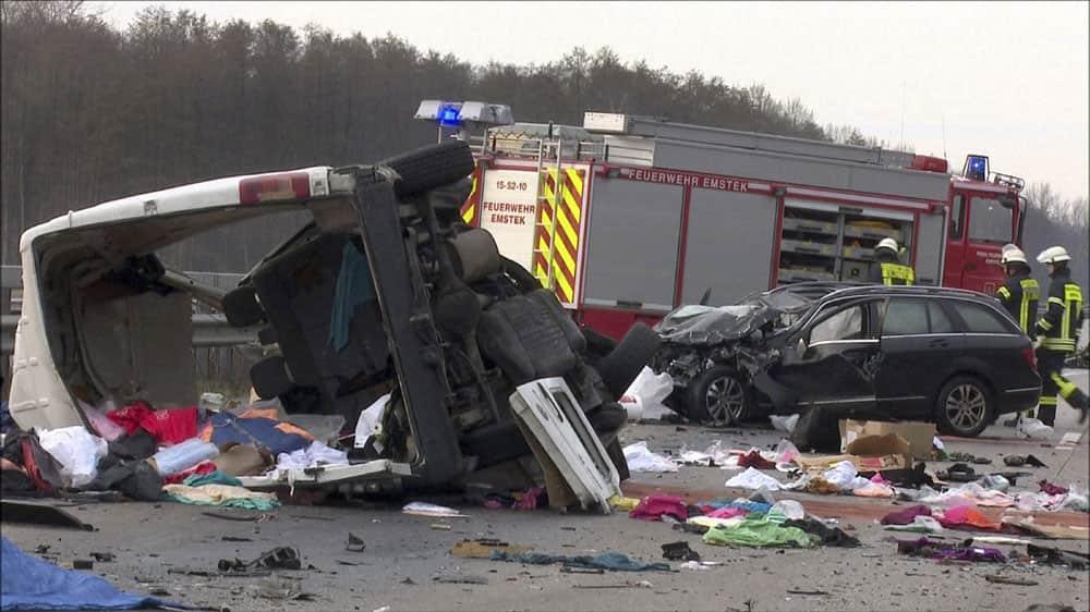 car crash on the A1 motorway
