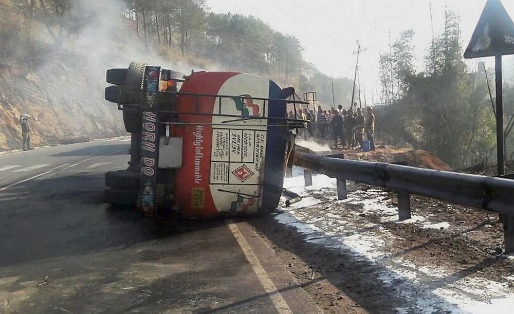 Three killed in road accident in Meghalaya