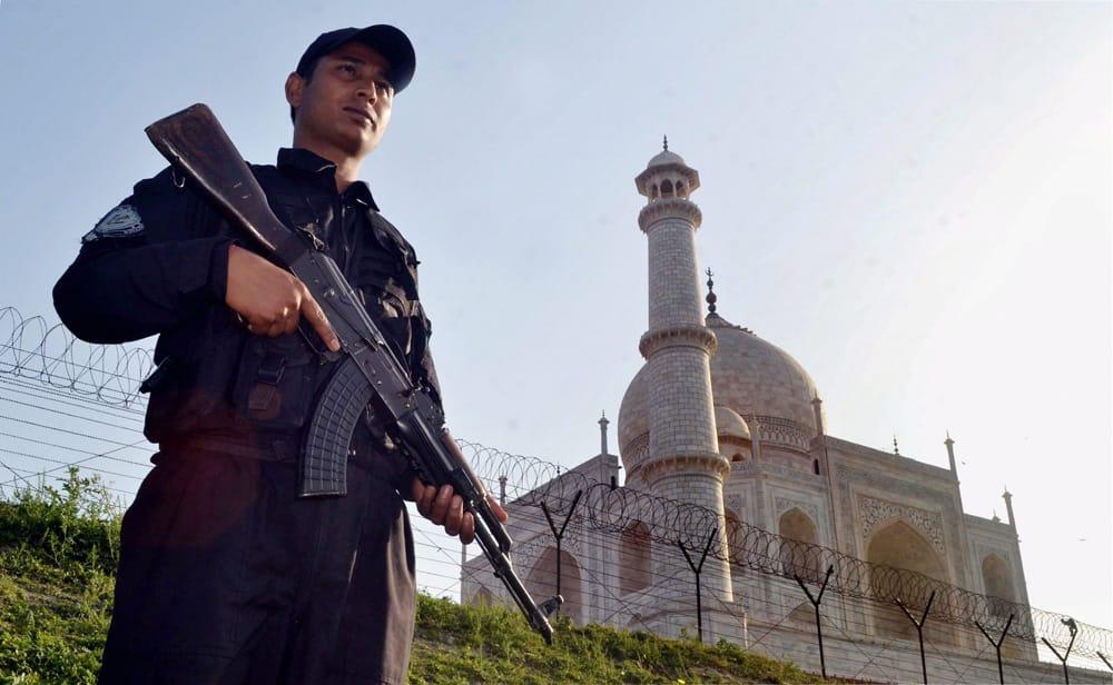 High security at Taj Mahal