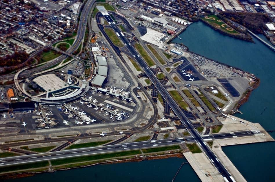 Landing at LaGuardia Airport in New York City
