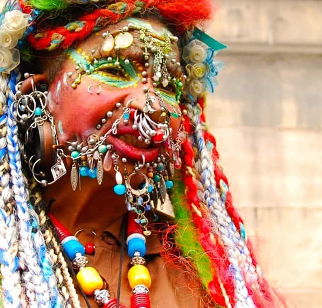 Most Pierced Woman