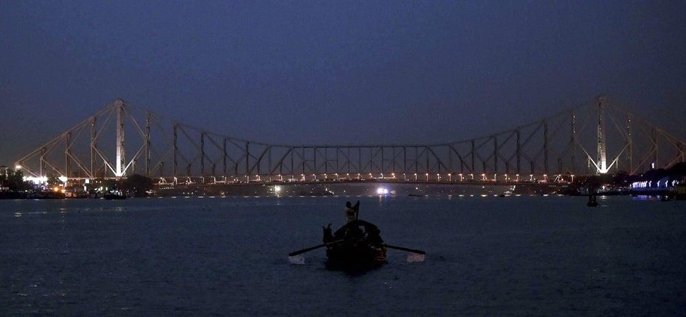 A view of Howrah Bridge in Kolkata