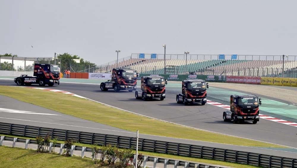 Truck racing drivers at Buddh Internationa