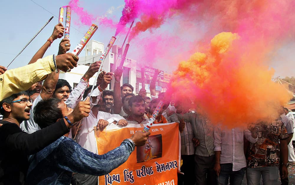 VHP supporters celebrate