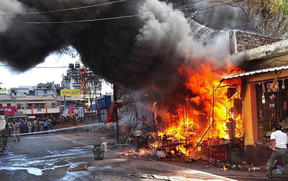 Fire in Ujjain