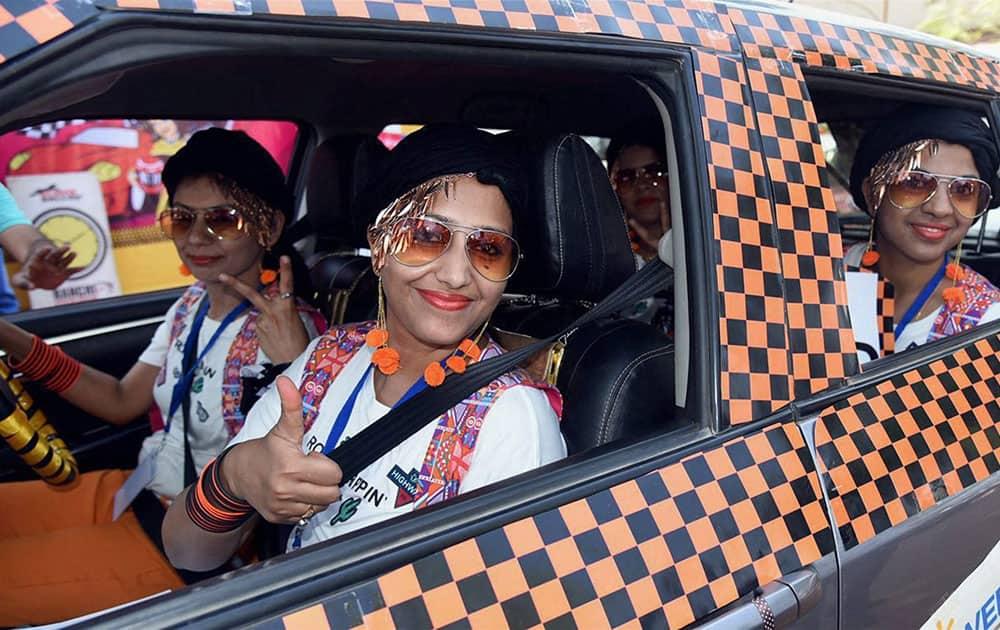Women car rally