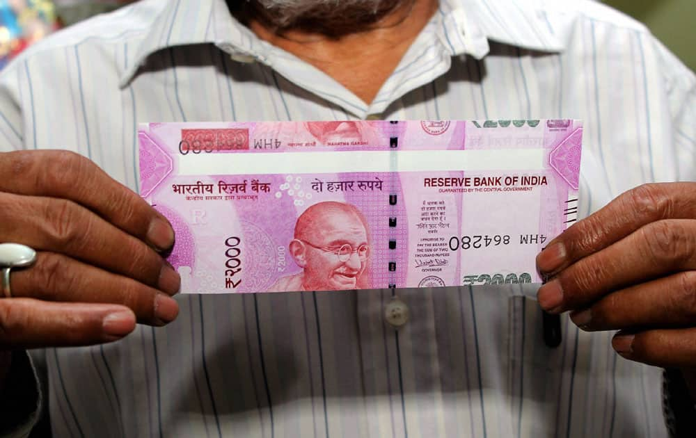 A Ghaziabad resident got a misprinted Rs2,000 note from a PNB ATM