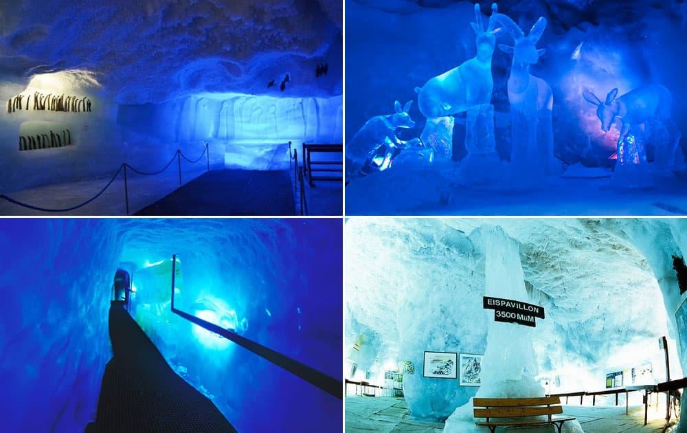 Ice Grotto of Mittelallalin, Fairy Glacier, Switzerland