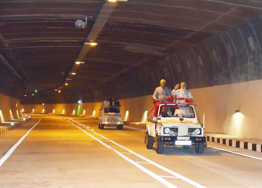 Chenani-Nashri Tunnel, in Jammu Kashmir