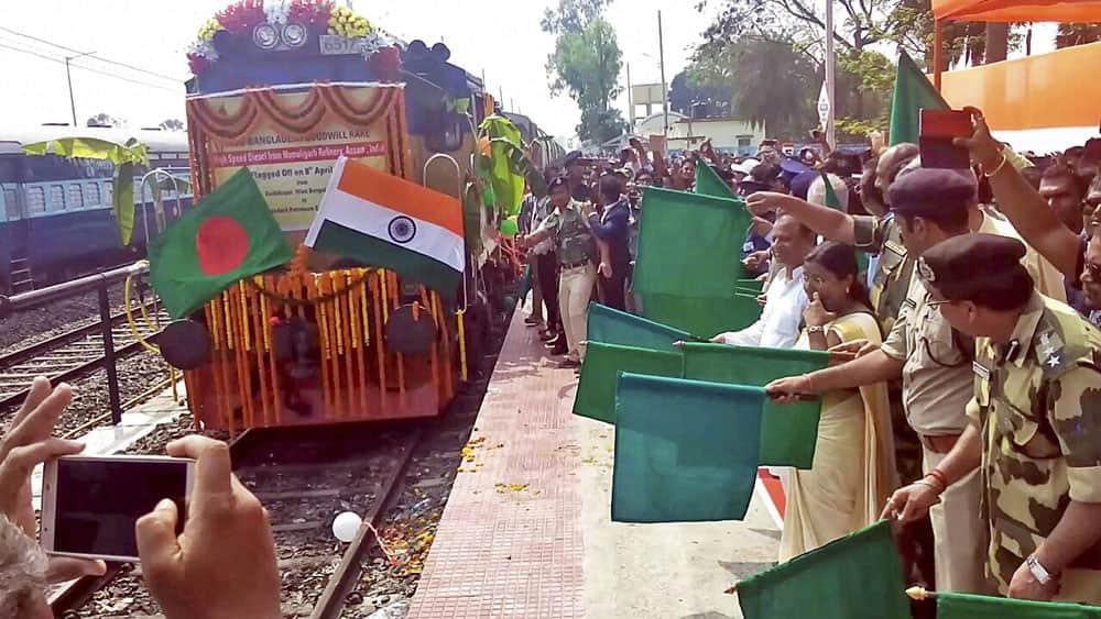 India- Bangladesh Goods Train