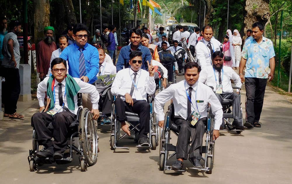 Specially abled cricket team from Bangladesh