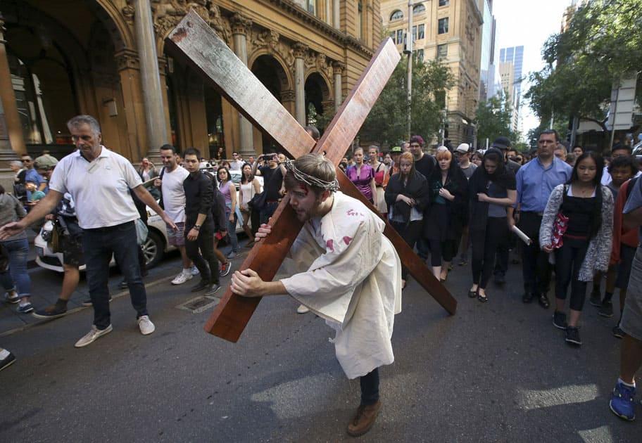 cross procession on Good Friday